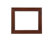 Un cadre de tableau brun, d'isolement avec le chemin de découpage Photos stock