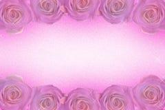 Un cadre des roses dans des tons pourpres illustration libre de droits