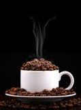 Un café caliente   Foto de archivo
