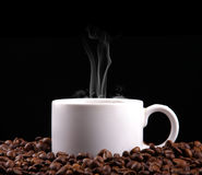 Un café caliente aislado Imágenes de archivo libres de regalías