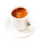 Un café de tasse d'isolement sur la fin blanche de fond  Americano Photographie stock libre de droits