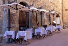 Un café en San Gimignano foto de archivo libre de regalías