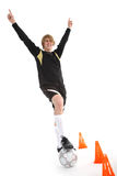 Un calciatore Fotografie Stock Libere da Diritti