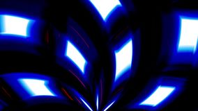 Un caleidoscopio que tuerce de formas coloreadas en el movimiento ilustración del vector