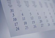 Un calendario Fotografia Stock Libera da Diritti