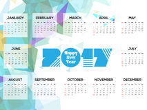 Un calendario astratto di 2017 Fotografia Stock Libera da Diritti
