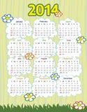 un calendario da 2014 anni Fotografie Stock