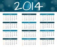 un calendario da 2014 anni Immagini Stock