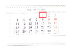un calendario da 2015 anni Calendario di maggio Immagine Stock Libera da Diritti