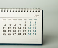 un calendario da 2016 anni luglio Immagini Stock Libere da Diritti