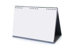 Un calendario da scrivania vuoto Fotografie Stock Libere da Diritti