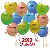 un calendario dei 2012 aerostati Immagini Stock