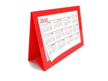Un calendario del rojo 2010 Fotografía de archivo