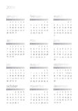 Un calendario di 2008 bianchi Fotografie Stock