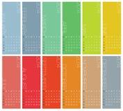 Un calendario di 2014 annuali Fotografia Stock Libera da Diritti
