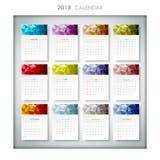 Un calendario geometrico di progettazione di 2018 Illustrazione di vettore Fotografia Stock