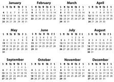 Un calendario para 2009 y 2020 Fotos de archivo