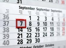 Un calendario per l'ufficio Immagini Stock