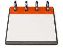 Un calendrier blanc Image stock