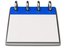 Un calendrier blanc Photographie stock libre de droits