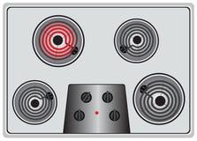 Un calentador se enciende  Imagenes de archivo