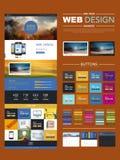 Un calibre de conception de site Web de page avec le paysage de tache floue Images libres de droits