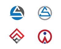 Un calibre professionnel de logo de finances d'affaires de lettre Photo libre de droits
