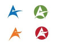 Un calibre professionnel de logo de finances d'affaires de lettre Photos stock