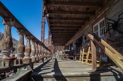 Un calicó abandonado del pueblo fantasma, CA, los E.E.U.U. Imagenes de archivo