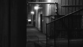 Un callejón en blanco y negro almacen de video