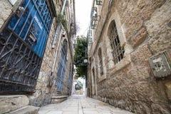 Un callejón en Jerusalén imagenes de archivo
