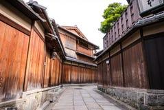 Un callejón tradicional en Ishibe Koji imagen de archivo