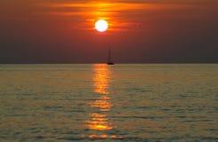 Un calme sur la mer Photographie stock