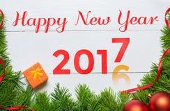un cambiamento da 2016 anni ad un concetto di 2017 anni Nuovo anno felice Fotografie Stock Libere da Diritti
