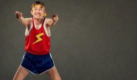 Un cambiamento nell'uomo strano negli sport copre Fotografie Stock Libere da Diritti