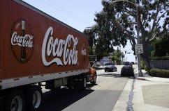 Un camión de Coca-Cola en el bulevar de Venecia Imagen de archivo