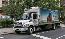 Un camión directo fresco Foto de archivo libre de regalías