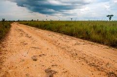 Un camino de tierra en los llanos Imagen de archivo libre de regalías