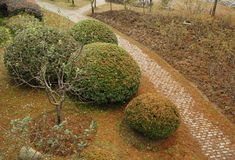 Un camino del arco en un parque Imagen de archivo libre de regalías