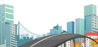 Un camino en la ciudad ilustración del vector
