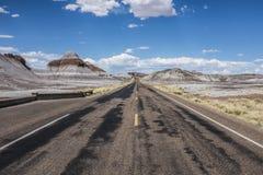 Un camino en la ruta 66 foto de archivo