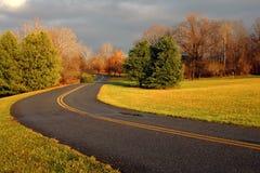 Un camino hermoso del parque Fotos de archivo libres de regalías