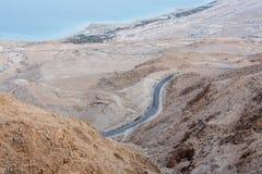 Un camino ocultado en un desierto Fotos de archivo libres de regalías