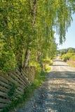 Un camino rural cuesta arriba como concepto de metas, de aventura, de visión o de viaje fotografía de archivo libre de regalías