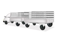 Un camion del carico con il rimorchio generale delle merci Immagini Stock Libere da Diritti