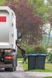 Un camion di immondizia speciale dell'automobile fotografie stock
