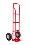 Un camion di mano rosso su bianco Fotografia Stock