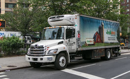 Un camion diretto fresco fotografia stock libera da diritti