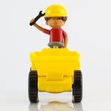 Un camion en plastique d'astuce de jouet Photo libre de droits