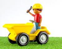 Un camion en plastique d'astuce de jouet Photo stock